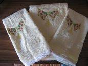 set asciugamani fiocco