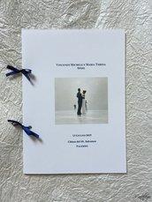 Libretto per messa degli sposi semplice rilegato con fiocchi in raso