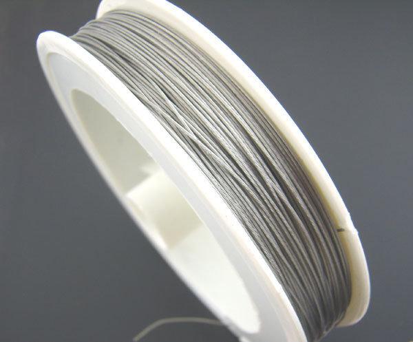 Cavetto acciaio grigio 0,45mm bobina 100 metri