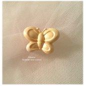 Formina ceramica farfalla oro- bomboniera
