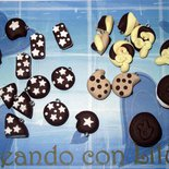 LOTTO 10 CIONDOLI BISCOTTI MIX IN FIMO