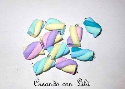 CIONDOLO IN FIMO MARSHMALLOW COLORE A SCELTA 1,50