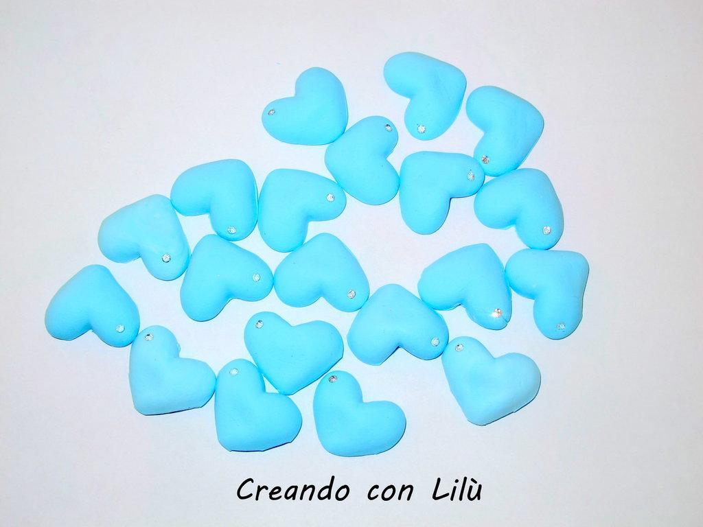 CIONDOLO IN FIMO CUORE 2X3CM