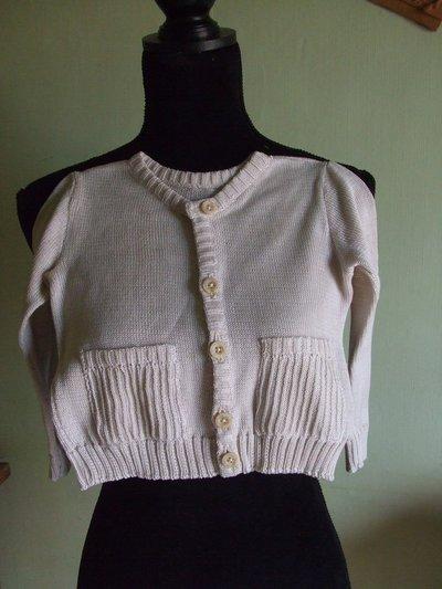 cardigan bimbo cotone 100%maglia