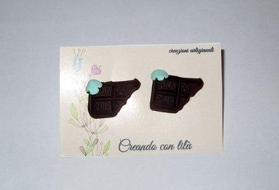 orecchini in fimo chocolate milk
