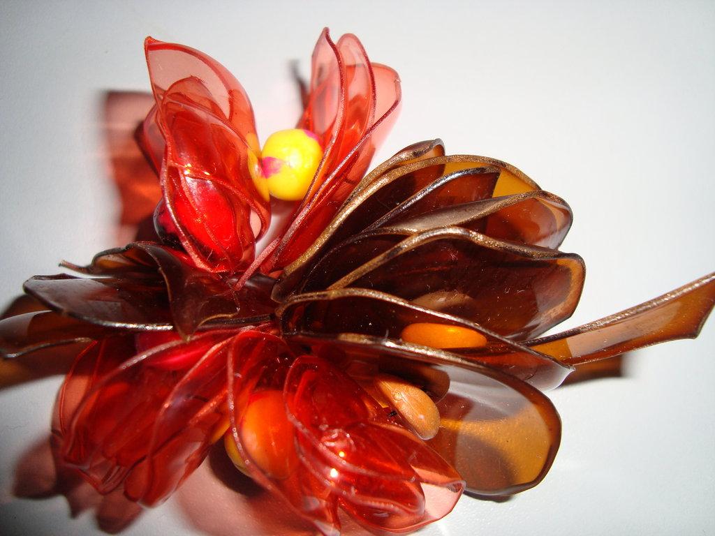 Bracciale petali marron e arancio