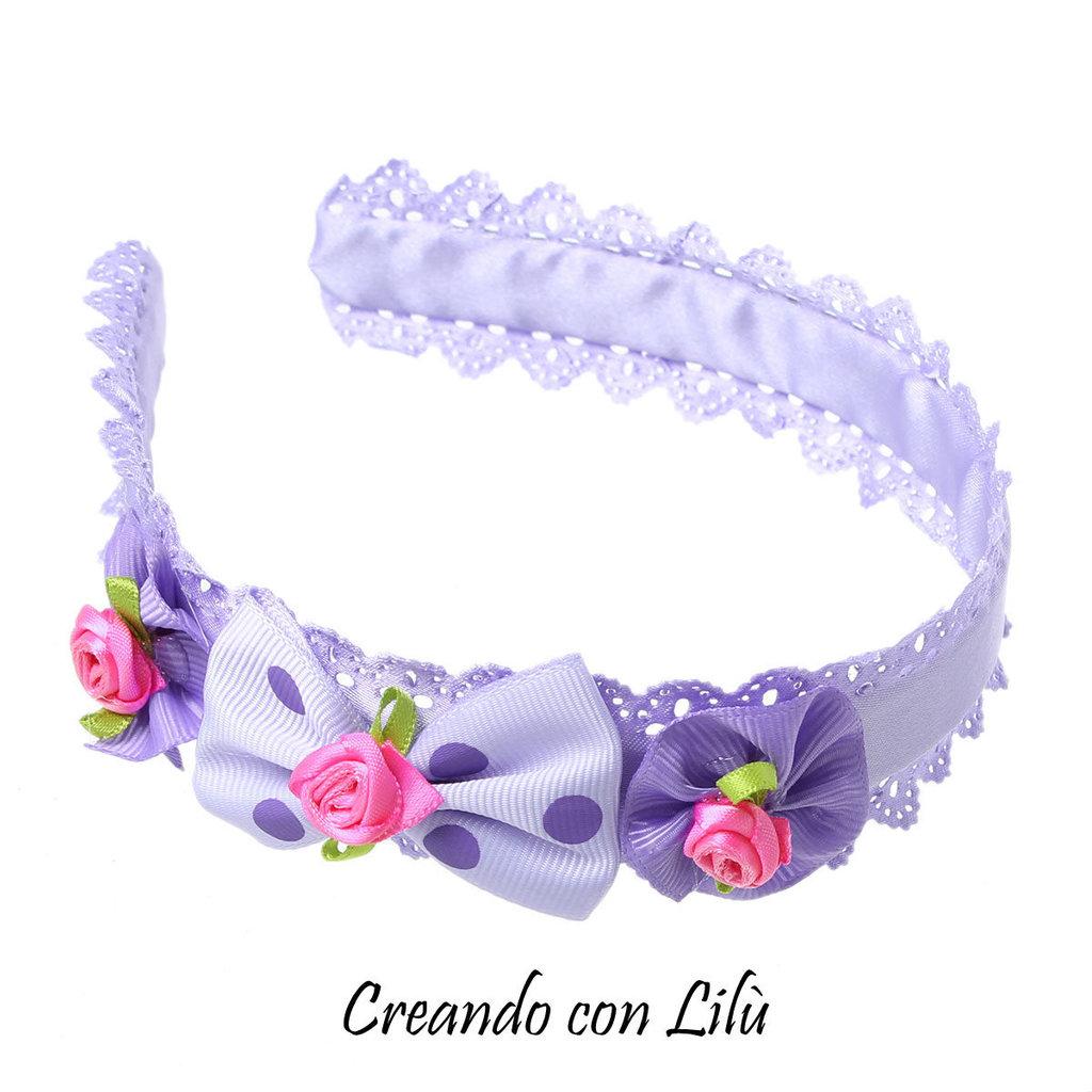 cerchietto per capelli bimba lilla - Donna - Accessori - di Creando ... 8de8ddb51df9