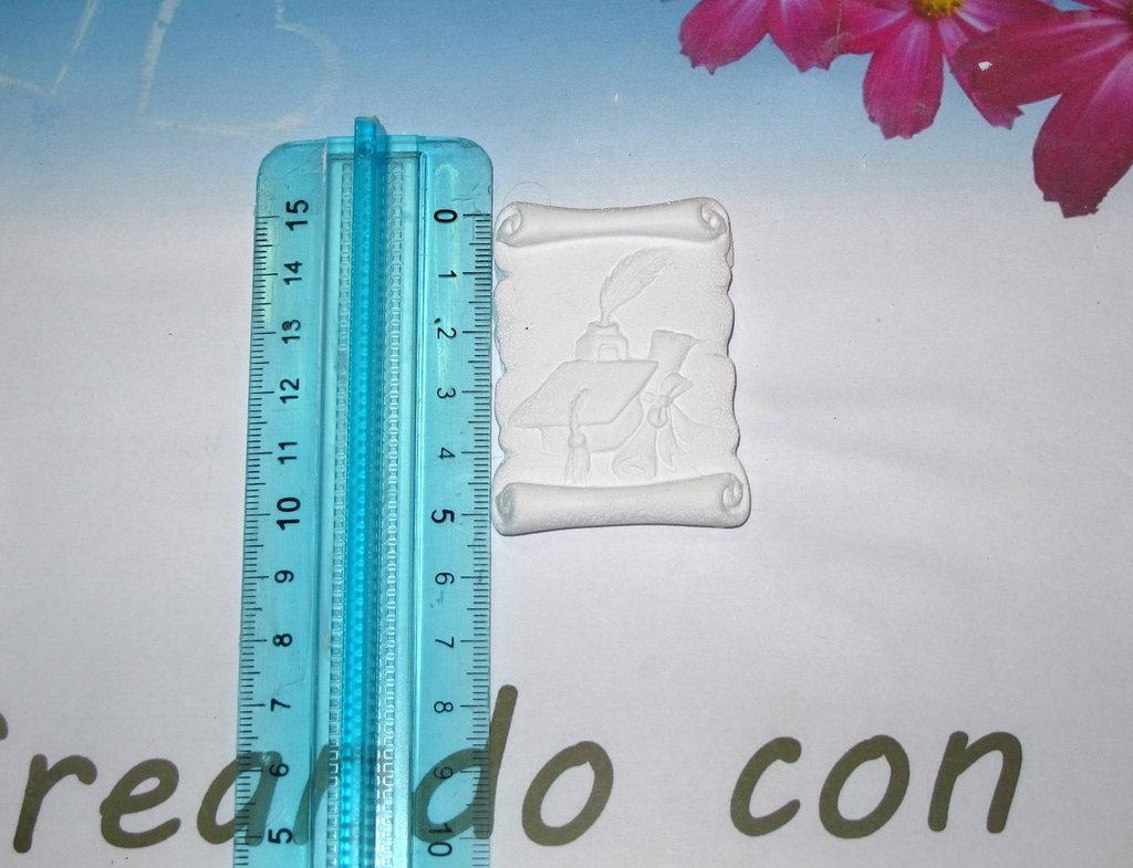 gessetto profumato targhetta laurea 5cm