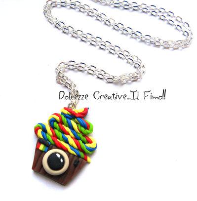 Collana Cupcake Instagram - Miniature - kawaii - arcobaleno