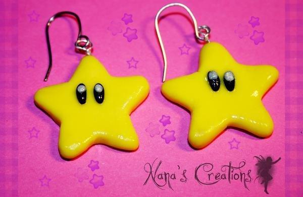 orecchini stelle mario bros