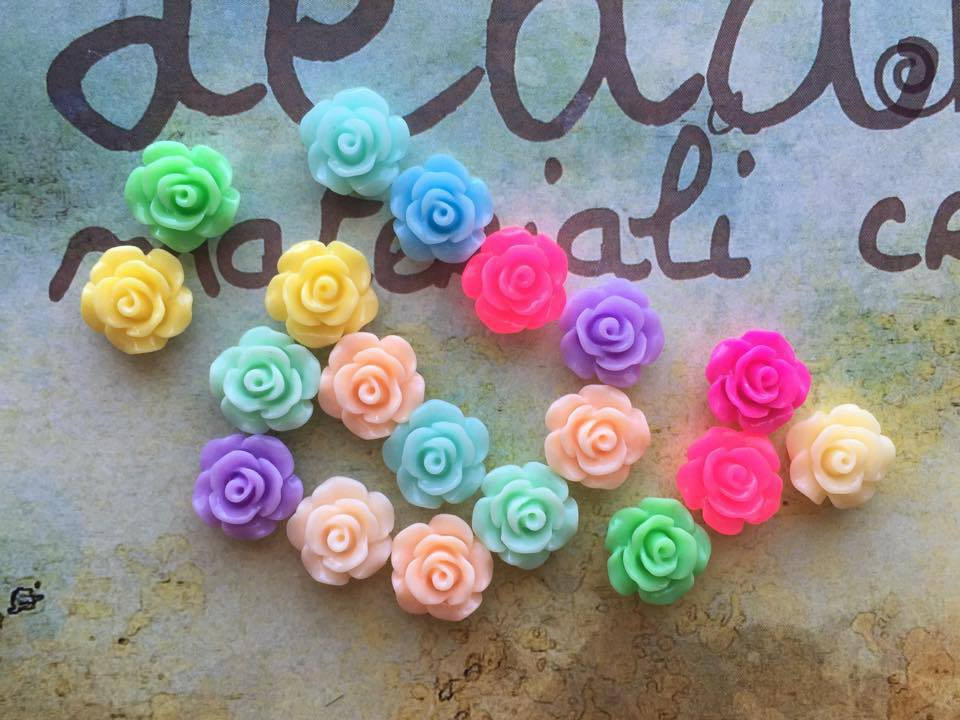14 Roselline cabochons