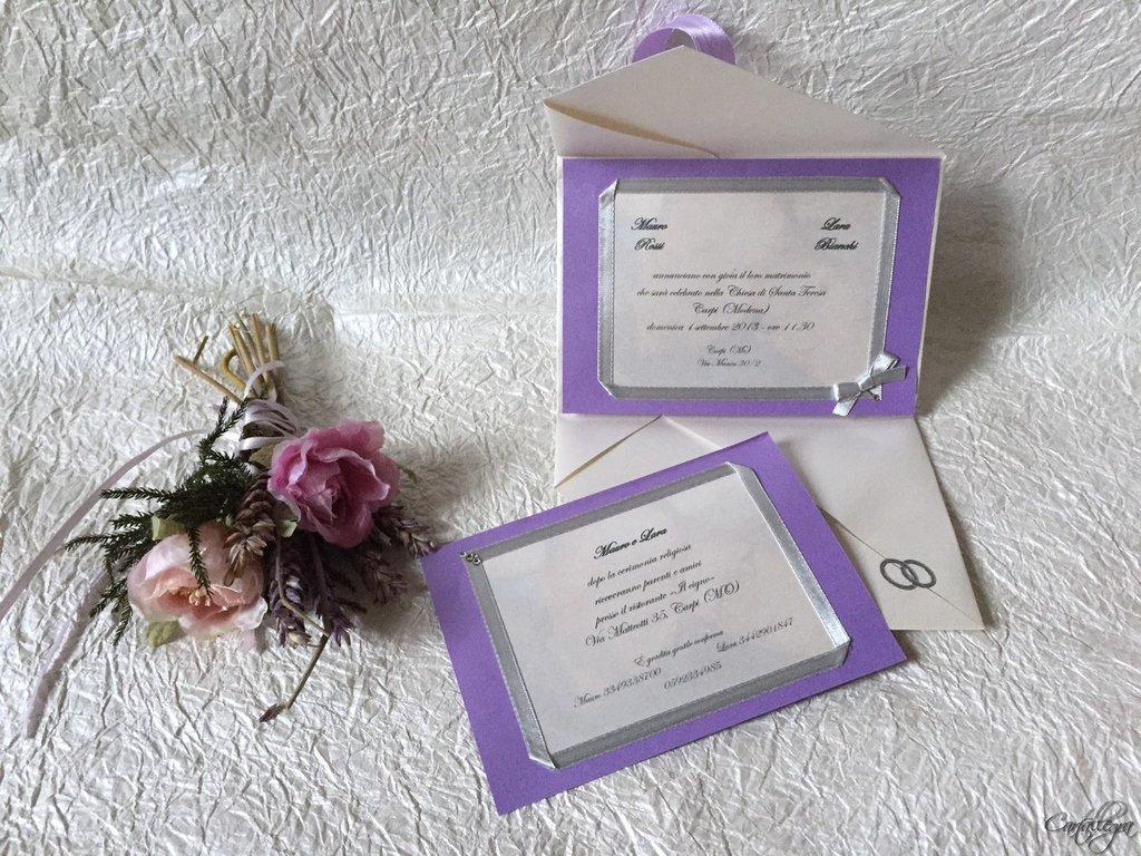 Partecipazione in carta perlata per matrimonio
