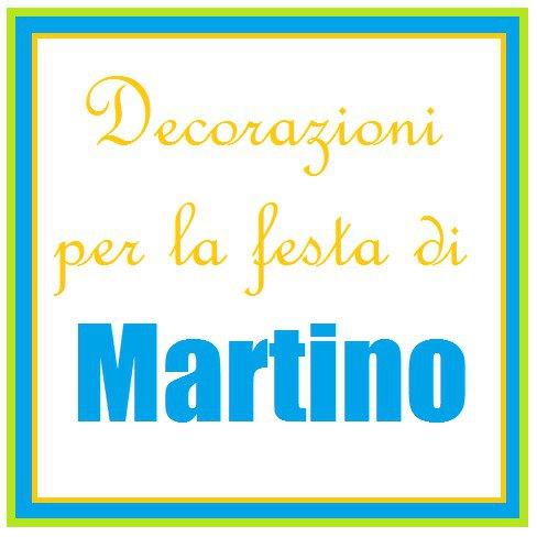 Decorazioni azzurre, verdi e arancioni per la festa di Martino!