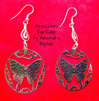 Orecchini 'Farfalle' argento