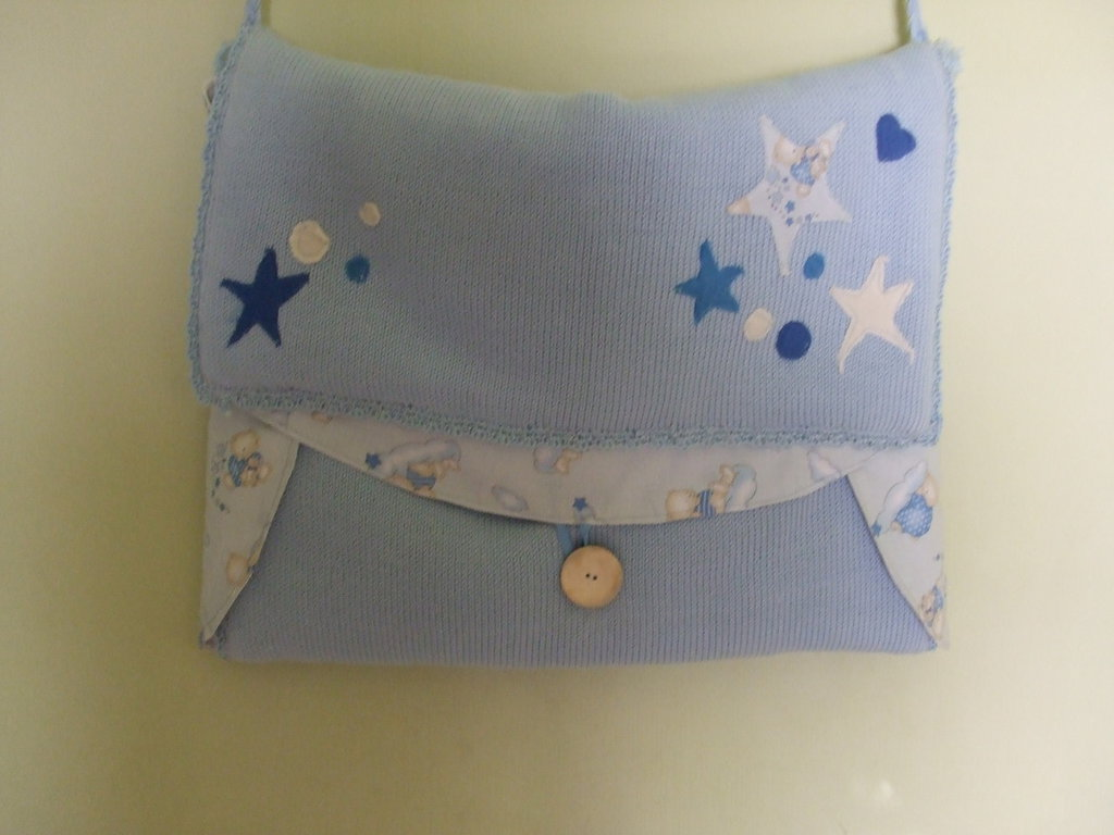 borsa fasciatoio maglia cotone