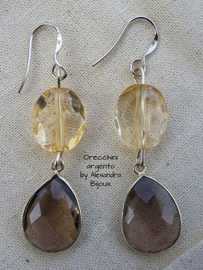 Orecchini argento e cristallo