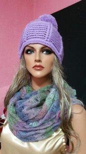 cappello donna,color glicine
