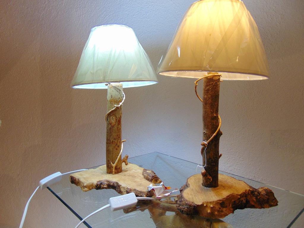 "COPPIA LAMPADE ""LE SORELLE"""