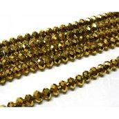 12 pz cristallo cinese cipollotti oro  metallizzato da 10 mm circa