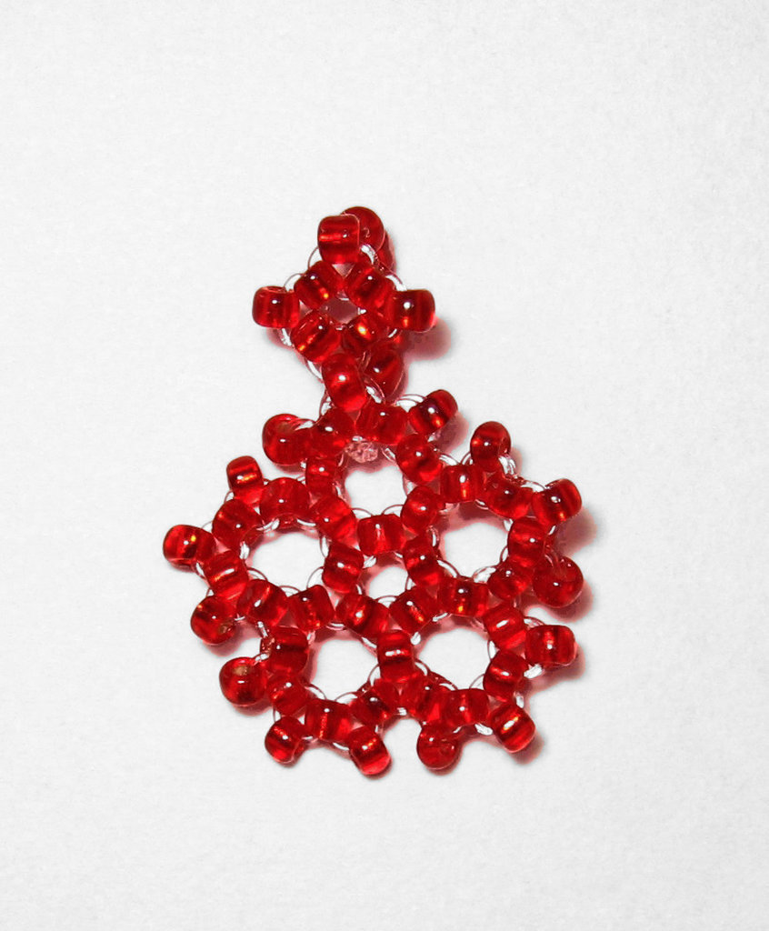 Ciondolo fiocco di neve rosso