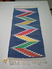 tappeto tipico ericino fantasia zig zag