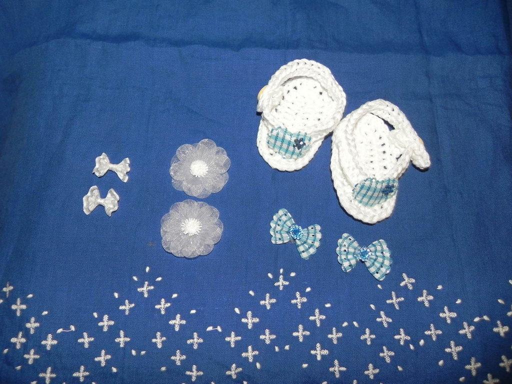 Scarpette sandali infradito in cotone bebè