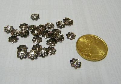 25 Cabochon argento antico
