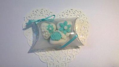 confettata matrimoni, confetti decorati in Tiffany