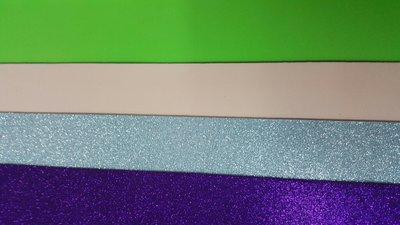36 Fogli Gomma Crepla Glitter e Tinta Unita 40 * 60 cm