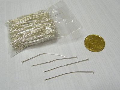 Chiodini a T 50 mm silver