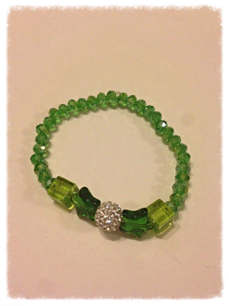 Bracciale Cristalli e Strass Verde