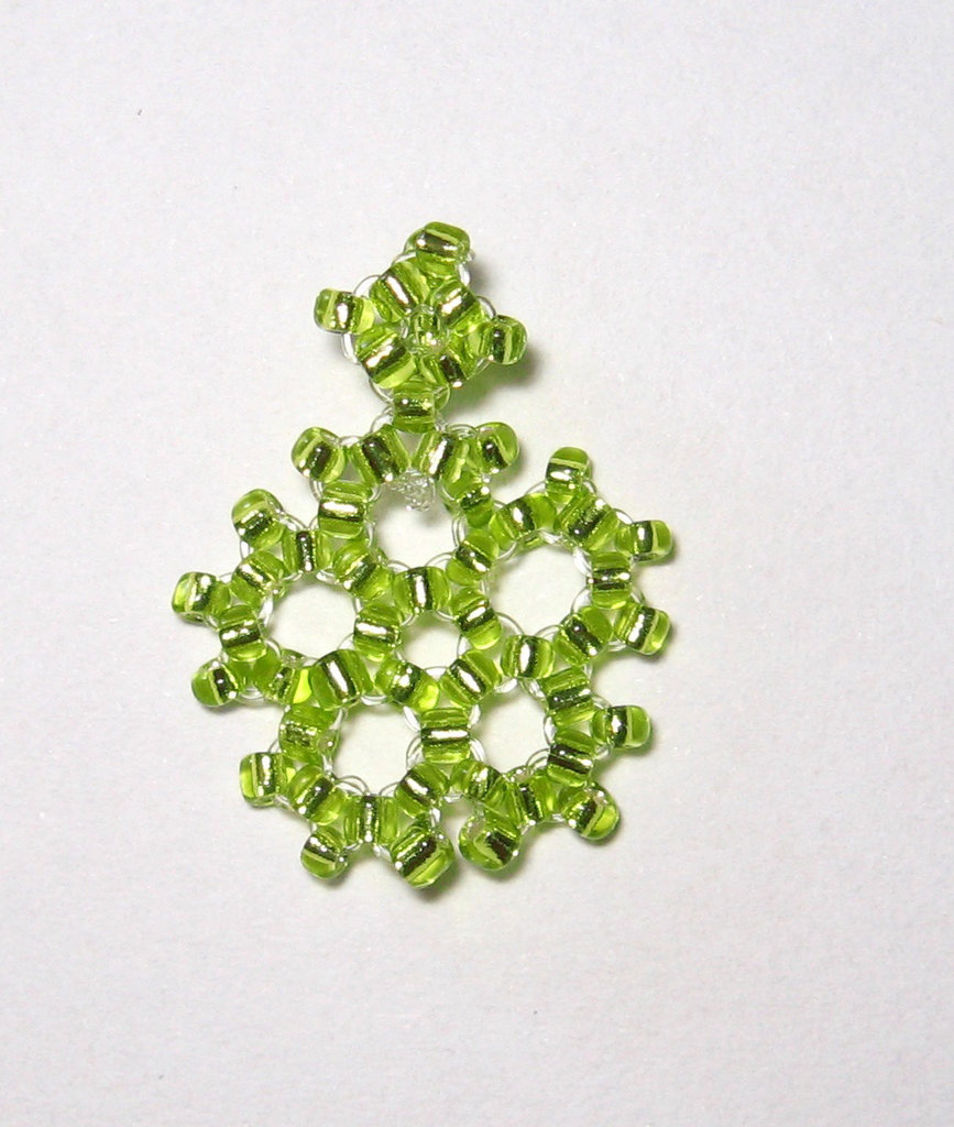 Ciondolo fiocco di neve verde chiaro