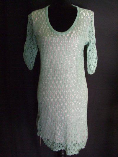 vestito donna  maglia cotone pizzo