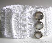 Bijoux collarino bianco da sposa,  uncinetto
