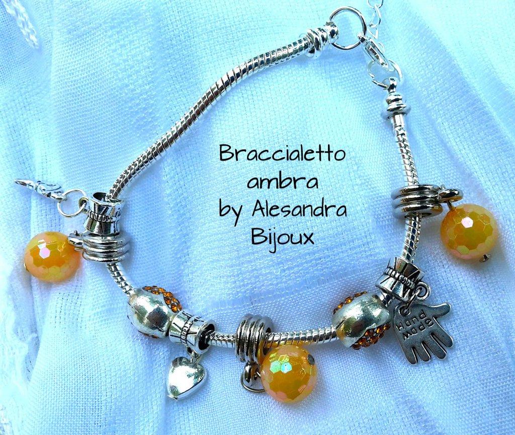 Braccialetto perla ambra