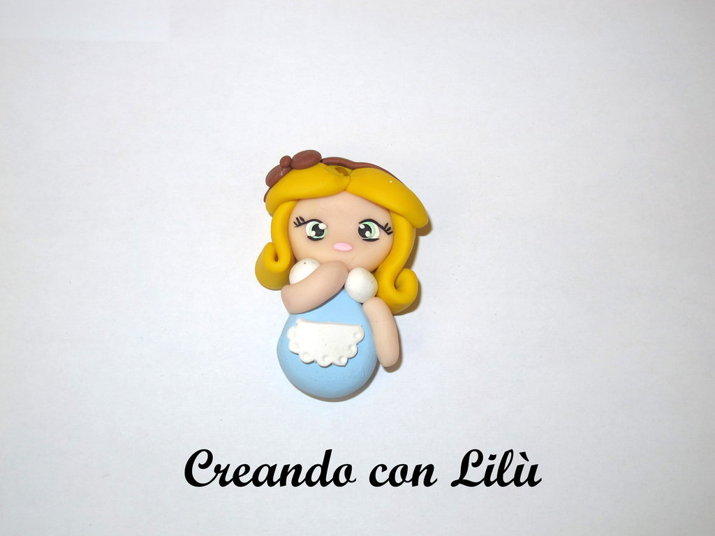 "ciondolo in fimo ""Alice"""
