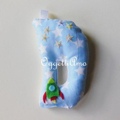 Lettera di stoffa imbottita di morbida ovatta per le vostre bomboniere!