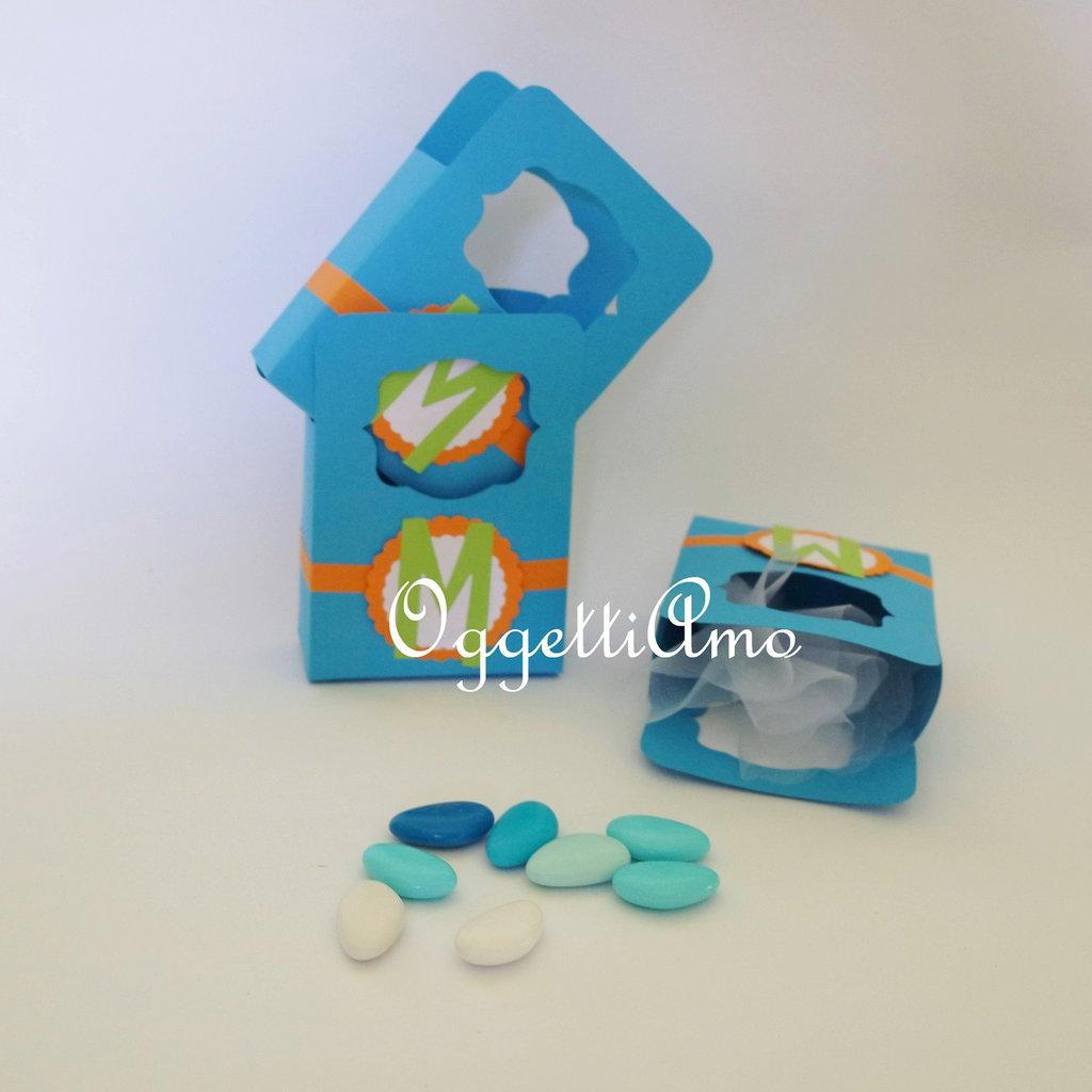 Set di 10 scatoline per confetti: buste personalizzate per il vostro battesimo o compleanno!