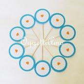 Cupcake toppers personalizzate per la vostra festa: coordinati di decorazioni in carta per il vostro battesimo o compleanno!