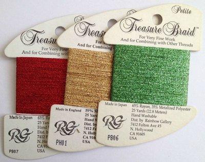 Petite Treasure Braid - Filato Metallizzato Ricamo - Rainbow Gallery - 1 cartina