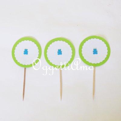 Set di 40 cupcake toppers: i vostri stuzzicadenti non sono mai stati così colorati!!!
