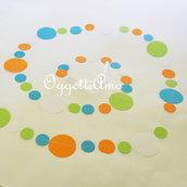 Ghirlanda di cerchi per addobbare la vostra festa: 5m di colore!