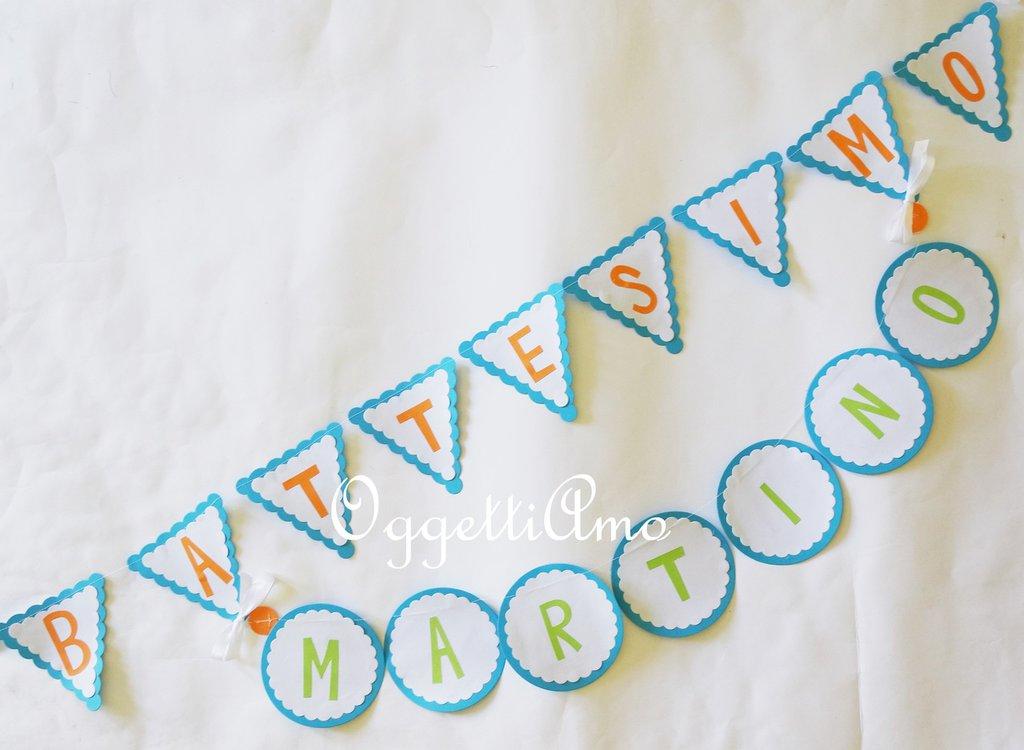 Bandierine di benvenuto per la vostra festa: il nome del festeggiato per accogliere i vostri ospiti!