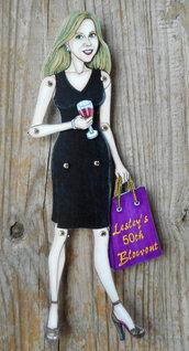 Bambola di carta articolata,realistica,personalizzata,unicha nel suo genere