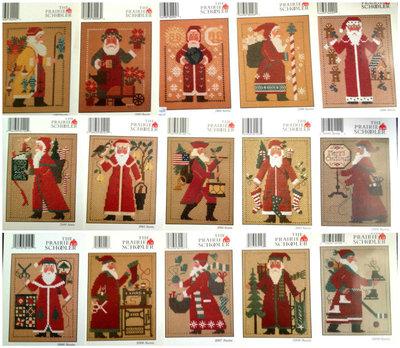 Prairie Schooler Santa - 1 schema punto croce Babbo Natale
