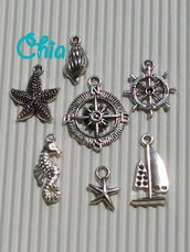 set 7 charms marinari 1