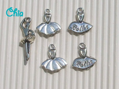 set 5 charms balletto