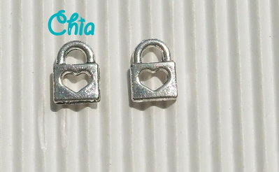 12 charms mini lucchetti cuoricini