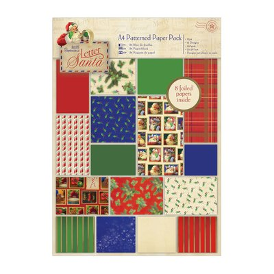 A4 Patterned Paper Pack - Letter to Santa