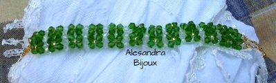 Braccialetto cristalli verde